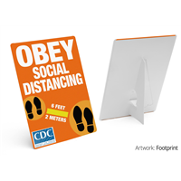 Social Distancing Counter Cards