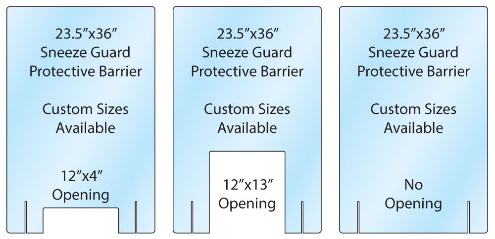 sneeze guard protective barrier